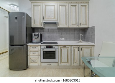 Moscow, TSARSKAYA square residential complex-January 11, 2020: photography of the Studio apartment.