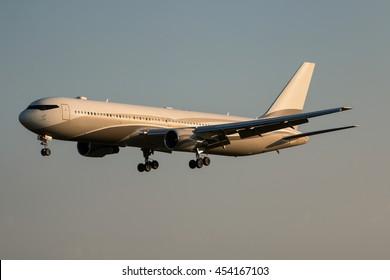 Moscow, Vnukovo International Airport, Russia - Jule 17, 2016: Boeing 767-33AER P4-MES Roman Abramovich landing at Vnukovo International Airport