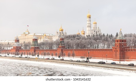 Moscow, winter, Kremlin