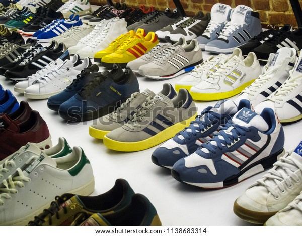 Moscow2 March2015 Rare Sneakers Exposition Adidas Stock