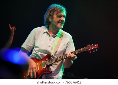 MOSCOW-26 MAY,2016:Rock concert of Emir Kusturica and Non Smoking Orchestra band