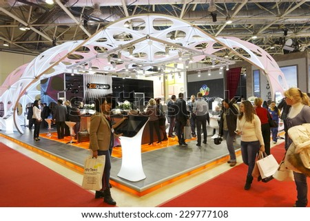 Exhibition Stand Wallpaper : Moscowapril 3 stand wallpaper european quality stock photo edit now