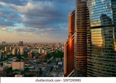 Moscow-city (Moscow International Business Center) at sunset, Russia