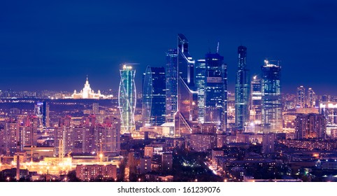 Moscow-city skyscrapers