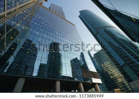 ec7a02ce187f Moscow-City skyscrapers made of glass and metal. This is modern business  district of