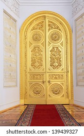 MOSCOW-FEB 22: An interior view of the Grand Kremlin Palace is shown on Feb 22, 2013 in Moscow. Built in 1849, the palace is the official residence of the President of Russia. The Georgievsky hall