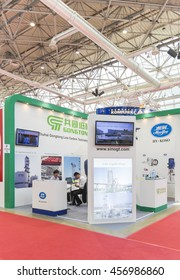 MOSCOW-JUNE 24, 2015: The Chinese company GONGDONG producing gas equipment at the International Trade Fair MIOGE