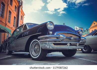 Moscow/Russia - 07.29.2018: custom auto convention Russia, old school Buick car