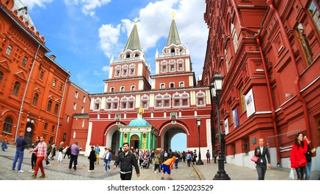 Moscow/Russia - April 7, 2017: State Historical Museum at Red Square in the normal day