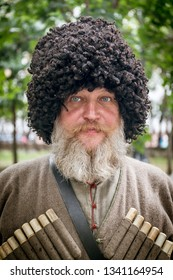 "MOSCOW,RUSSIA, AUGUST 18,2018. Festival ""Times and epochs"".Russian Cossack"