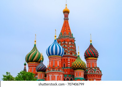 Moscow,Russia. - May 10th,2014 :  Saint Basil's Cathedral, is a church in the Red.
