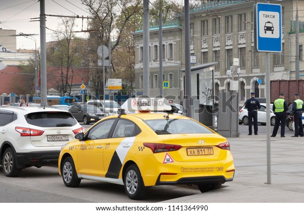 Moscowrussiamay 04 2018 Yandex Taxi Car Stock Photo (Edit