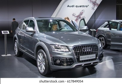 Moscow-September 2: Audi Q5  at the Moscow International Automobile Salon on September 2, 2014 in Moscow