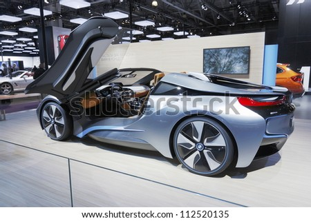 Moscowseptember 3 The European Premiere Bmw I 8 Stock Photo Edit