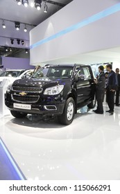 MOSCOW-SEPTEMBER 3:The European premiere of Chevrolet Trail Blazer at the International Automobile Salon on September 3,2012 in Moscow