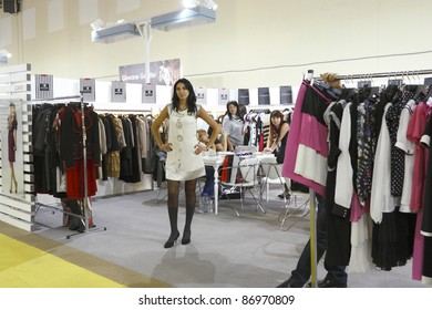 MOSCOW-SEPTEMBER 5:A model shows, the French brand Exaltation at the International Fair of Fashion, September 5, 2011 in Moscow, Russia.