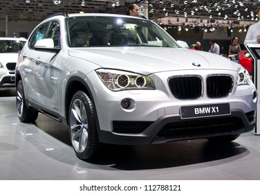 MOSCOW-SEPTEMBER 6: BMW X1 at the Moscow International Automobile Salon on September 6,2012 in Moscow