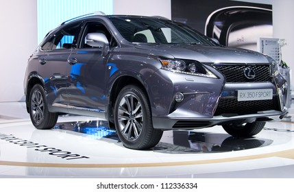 MOSCOW-SEPTEMBER 6: Lexus RX 350 F Sport at the Moscow International Automobile Salon on September 6,2012 in Moscow