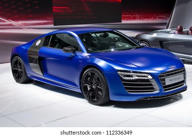 MOSCOW-SEPTEMBER 6: World premiere of Audi R8 Coupe at the Moscow International Automobile Salon on September 6,2012 in Moscow