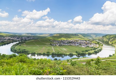 Moselle Loop at Trittenheim Panorama Germany.
