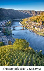 Moselle valley at Cochem town, Germany