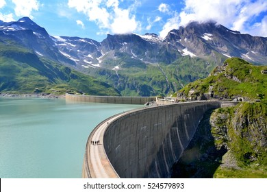 The Moserbooden dam in Austria Alps. Hydroelectric power plant near from Kaprun.