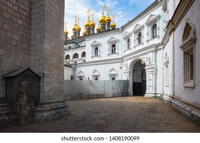 MOSOW, RUSSIA, MAY 21, 2019: The apex of Russian political power and once the centre of the Orthodox Church, the Kremlin is the kernel of not only Moscow, but of the whole country - Moscow, Russia