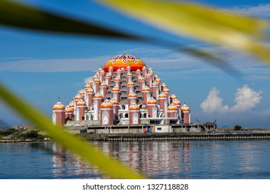 Mosque with 99 domes located at Losari Beach Pavilion, Makassar