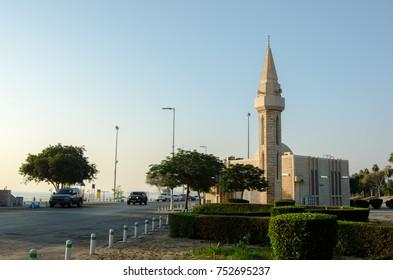 Mosque in Al Jubail City in Saudi Arabia