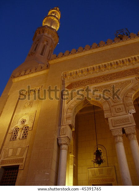 Mosque in Aswan at night