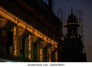 Mosque at Bhendi Bazar decorated with Lights in holy month of Ramadan Ramazan