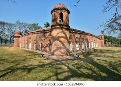 The Mosque City of Bagerhat is a UNESCO World Heritage Site, Sixty Dome Mosque or Shait Gumbad mosque, Bangladesh