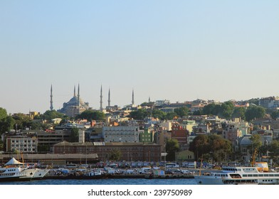 Mosque and city on hill. Istanbul, Turkey