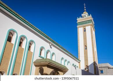Mosque in Dakhla. Dakhla, Western Sahara, Morocco.