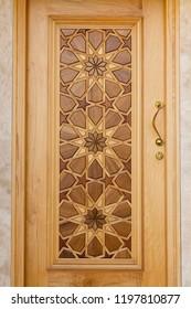 Mosque door made with the art of Girih
