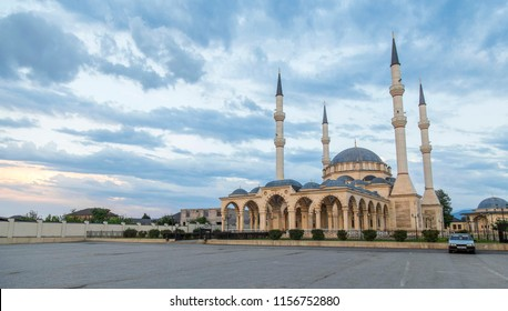 Mosque in GROZNY, CHECHNYA, RUSSIA -  view in Urus Martan, one of Chechnya main city