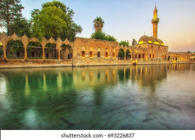 Mosque of Halil-ur-Rahman Reflection on Abraham's Pool Fish Lake reflection, Urfa, Turkey