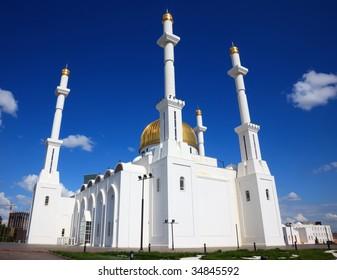 Mosque. Islam center. Astana, capital of Kazakhstan Republic.