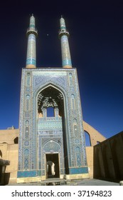 Mosque mosaics in   Yazd, Iran, Middle East