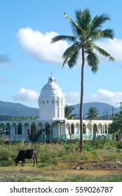 Mosque of Mtsapere on Mayotte island, France