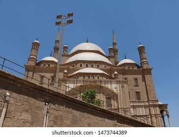 Mosque of Muhammad Ali Pasha on Citadel of Saladin in Cairo Egypt looks from bottom