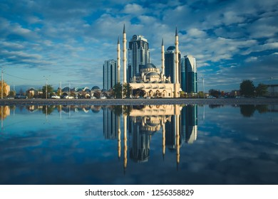 "The mosque named after Akhmad Kadyrov, and high-rise complex ""Grozny City"""