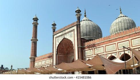 Mosque, New Delhi, India.