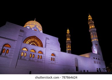 Mosque at night, Muscat, Oman