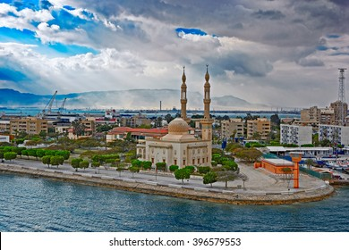 Mosque on Suez canal bank