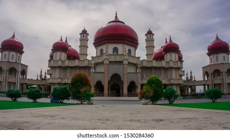 The mosque is a place of worship for Muslims. Beautiful the Great Mosque of Baitul Makmur Meulaboh, Indonesia.