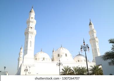 Mosque Quba the first mosque in the history of Islam in Madina Munawara, Kingsom Saudi Arabia (KSA) - January 2019
