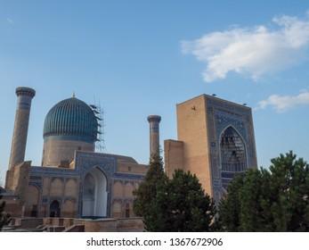 Mosque of samarkand in Uzbekistan.