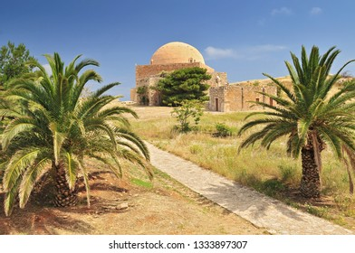 The mosque of Sultan Ibrahim inside the Venetian fortress of Rethymnon, Crete Greece.