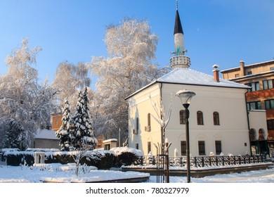 Mosque in Travnik, BiH, December 2017.